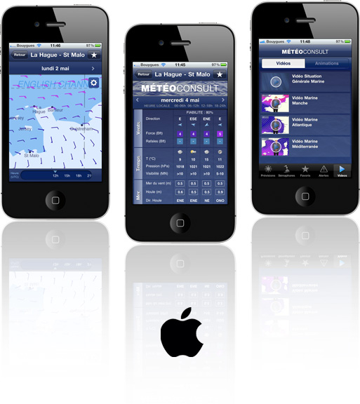 Application M�t�o Marine pour iPhone