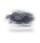 Ciel couvert et brumeux. visibilité réduite.