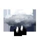Ciel très nuageux à couvert.