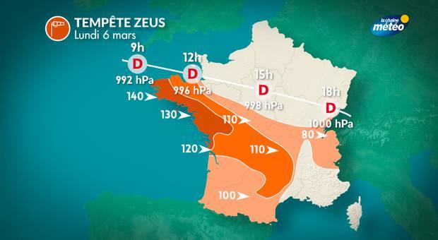 180.000 foyers privés d'électricité en Bretagne