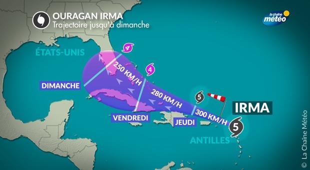 Où va-t-il frapper ensuite — Ouragan Irma