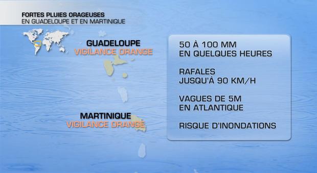 Tempête Rafaël : alerte orange sur les Antilles françaises