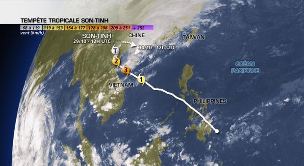 Le typhon Son-Tinh a touché le Vietnam après les Philippines