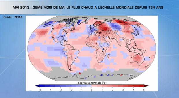 Mai 2013 : 3ème mois de mai le plus chaud à l'échelle mondiale